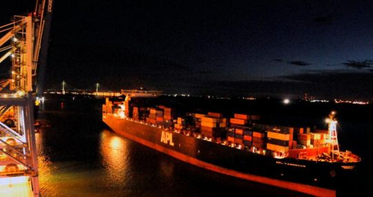 Port of Charleston handles its largest containership