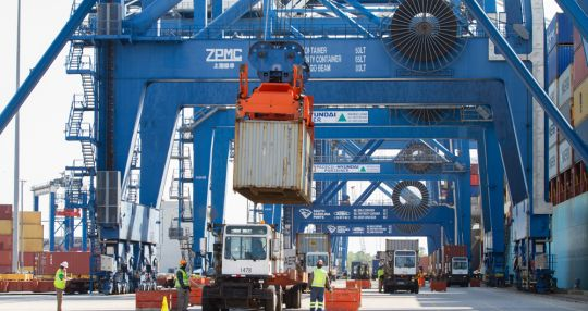Cargo volumes up at port near end of fiscal 2017