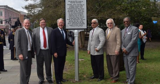 Marker installed to celebrate Charleston's 1st water supply