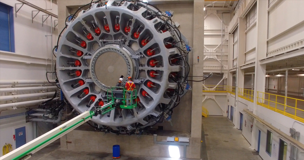 The 15-megawatt wind turbine testing machine in North Charleston is the largest of its kind in the country. (Photo/Clemson University)