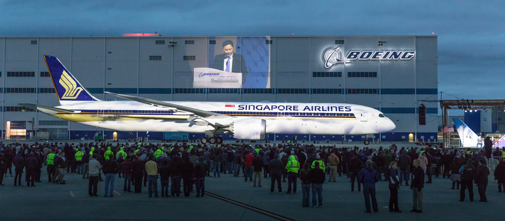 Boeing rolled out the 787-10 Dreamliner at the company's final assembly operations in North Charleston in early 2017. (Photo/Kim McManus)