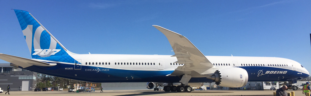 Boeing officially rolled out its 787-10 this afternoon at the North Charleston plant. (Photo/Liz Segrist)