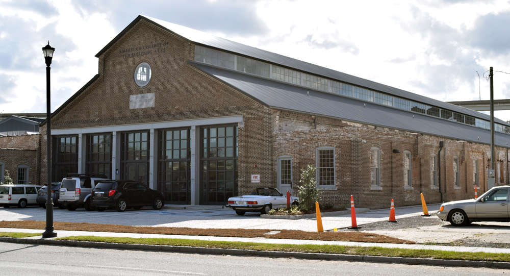 The American College of the Building Arts nearly doubled its space by moving to the newly renovated trolley barn building on Meeting Street in Charleston. (Photo/Ashley Heffernan)