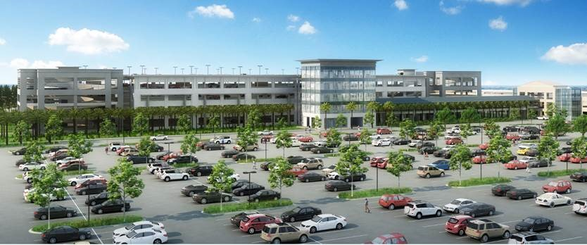Construction is underway on a five-story parking garage at Charleston International Airport. (Rendering/Provided)