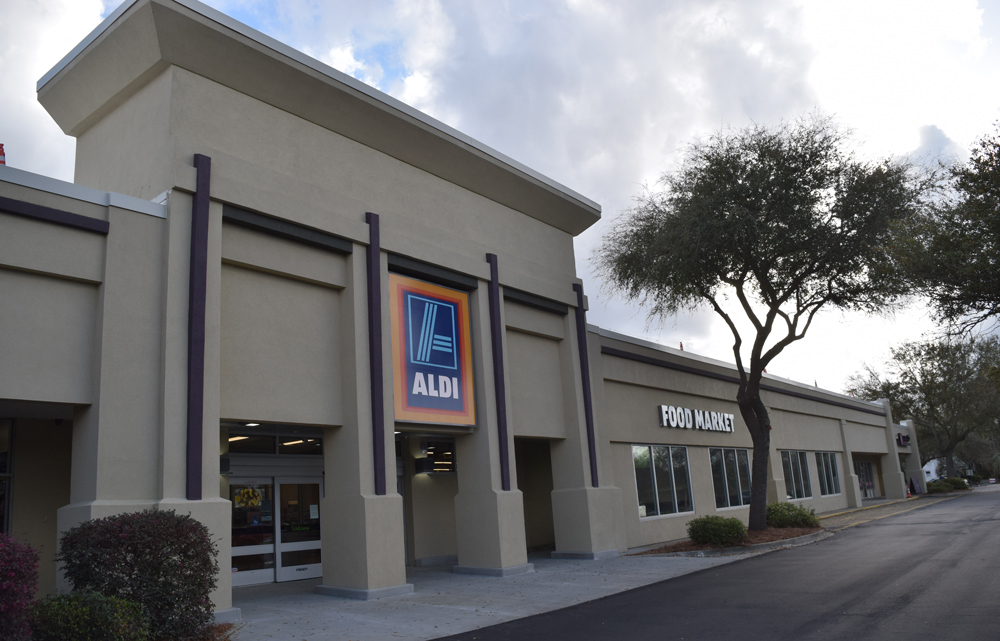 Aldi opened a 20,600-square-foot grocery store in early March on Johnnie Dodds Boulevard in Mount Pleasant at the former Pinz Bowling and More facility. (Photo/Ashley Heffernan)