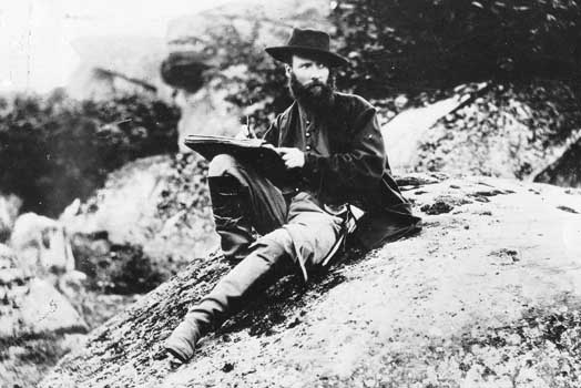 Alfred R. Waud plying his artistic skills in 1863 at Gettysburg, Pa. (Photo/Library of Congress)