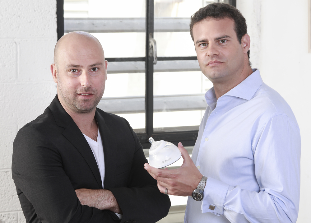 Nanobebe co-founders Ayal Lanternari (left) and Asaf Kehat run operations from Charleston and Tel Aviv, respectively.  (Photo/Nanobebe)