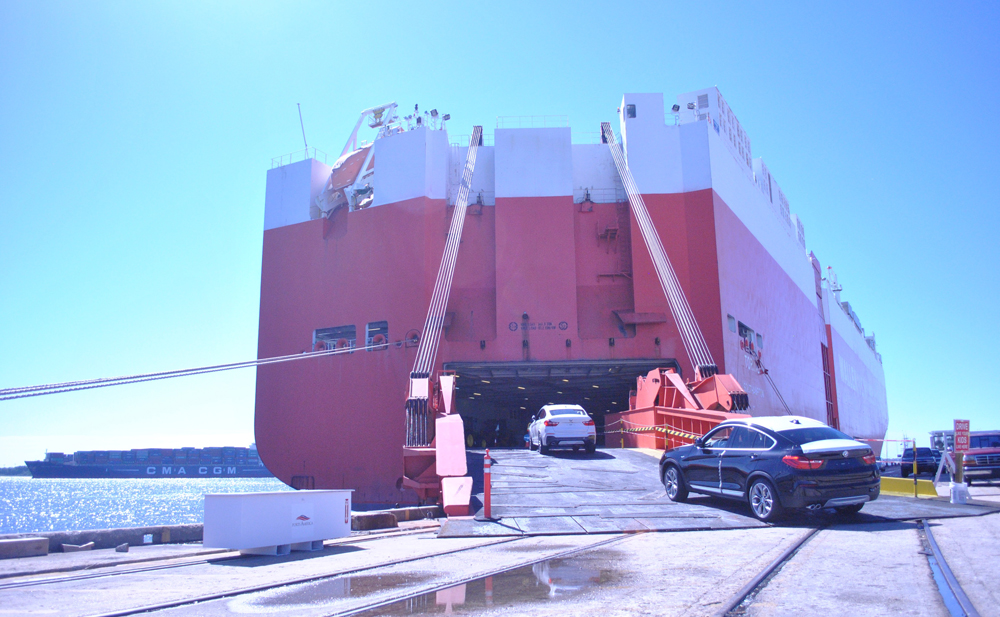 BMW exports many of its Greer-made vehicles through the Port of Charleston. (Photo/Ryan Wilcox)