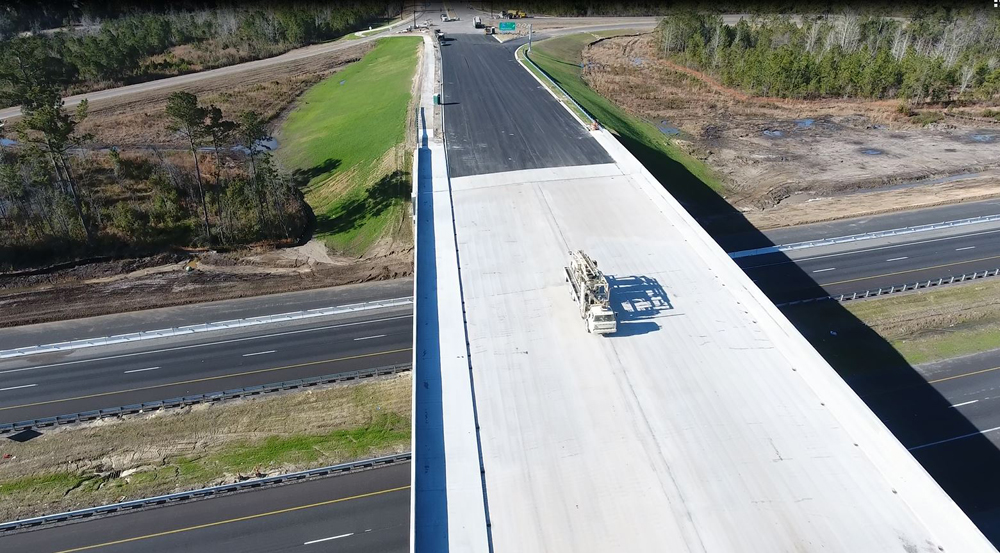 Construction continues on the Nexton Parkway Interchange along Interstate 26 in Summerville. (Photo/Provided)