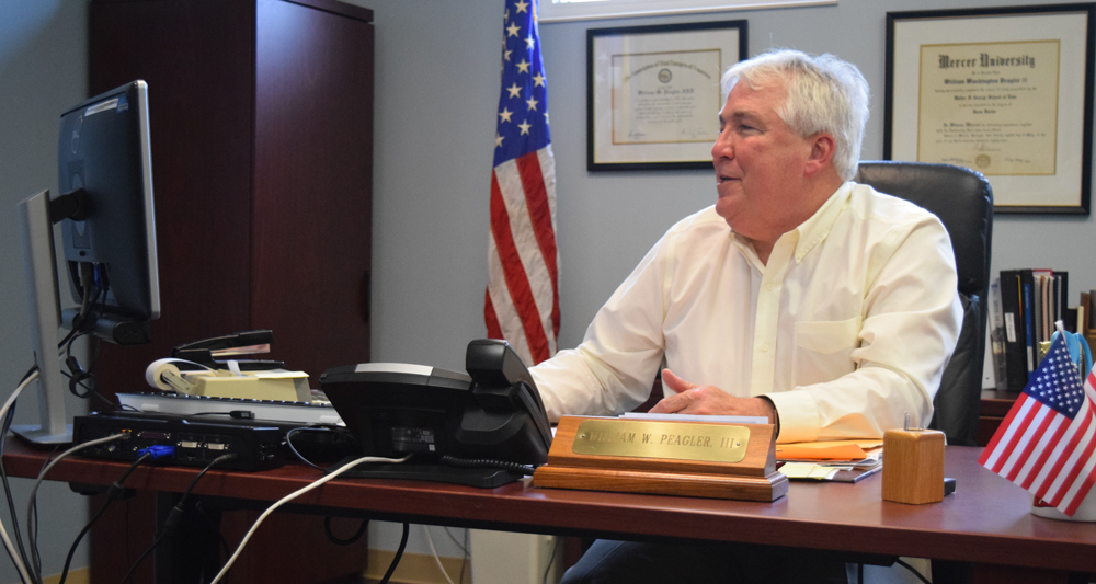 Berkeley County Supervisor Bill Peagler was elected Nov. 4, 2014; his term expires Dec. 31, 2018. Under the current council-supervisor form of government, Peagler also serves as chairman of county council — voting only to break a tie — and chief administrative officer of the county. (Photo/Ashley Heffernan)