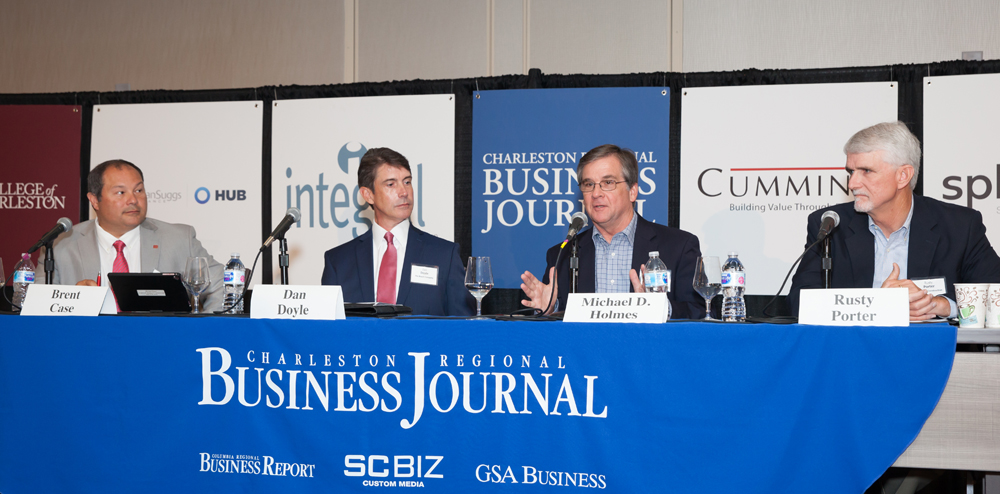 Click to view a slideshow from the event. Four industry experts spoke about multifamily housing, affordability and cost at the Business Journal's Power Breakfast on Thursday. (Photo/Kim McManus)