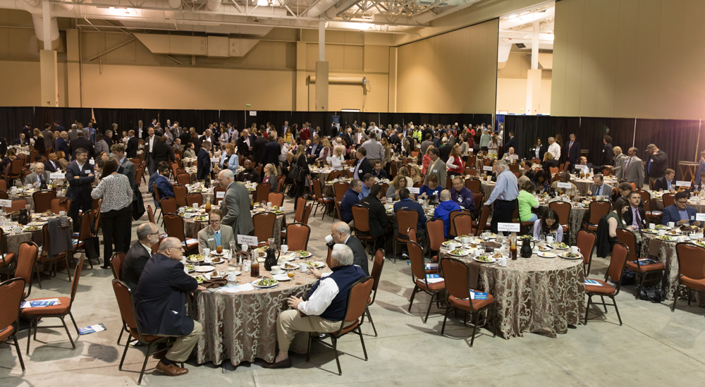 The luncheon had a capacity crowd before the North Charleston Business Expo got underway at the Charleston Area Convention Center. (Kim McManus)