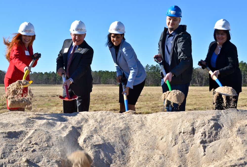 Gov. Nikki Haley (center) attended the groundbreaking of Google's new data center facility in Berkeley County. The company announced plans to spend another $600 million on its campus. (Photo/Leslie Burden)