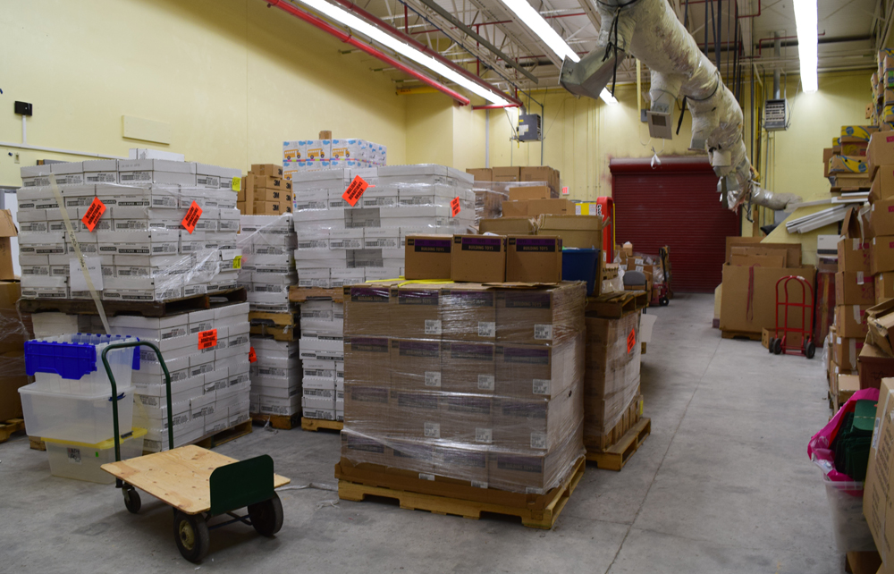 The Teachers' Supply Closet has outgrown its current 5,000-square-foot warehouse space behind Garrett Academy of Technology in North Charleston. (Photo/Ashley Heffernan)