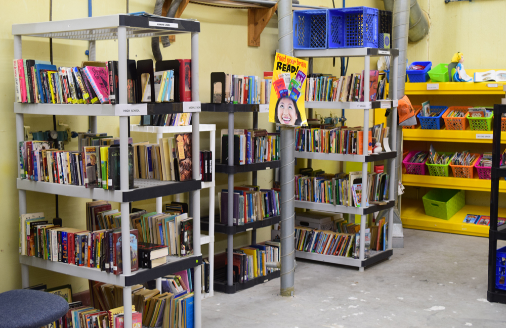 Charleston Friends of the Library frequently donates discarded books that teachers can pick up for free at the Teachers' Supply Closet and take back to their classrooms. (Photo/Ashley Heffernan)