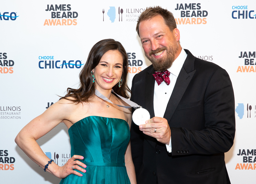 Fig general manager and wine director Morgan Calcote and owner and manager Adam Nemirow. (Photo/Huge Galdones for the James Beard Foundation)