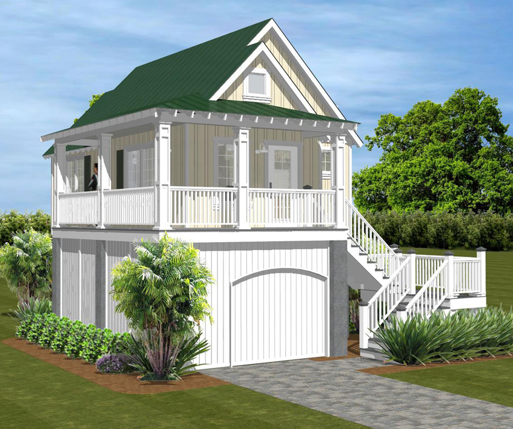 "The ""555 Cascade"" plan can be built as stand-alone home. (Renderings/Creative Living Designs LLC)"