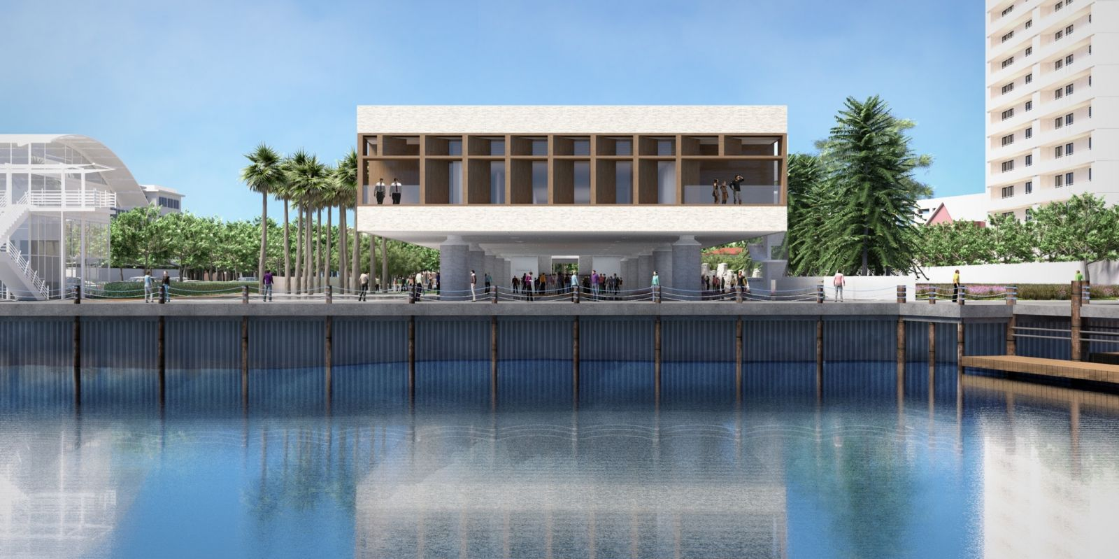 A spokeswoman for the International African American Museum said the museum is within $2 million of its $25 million fundraising goal. (Rendering/Provided)