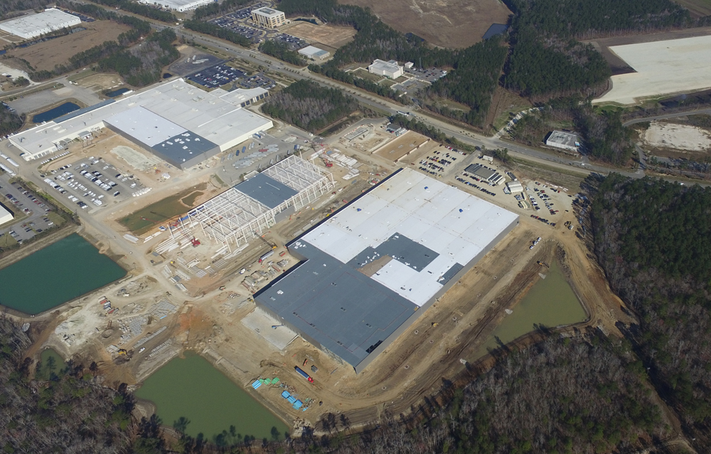 Mercedes benz vans makes progress on campus charleston for Mercedes benz in columbia sc