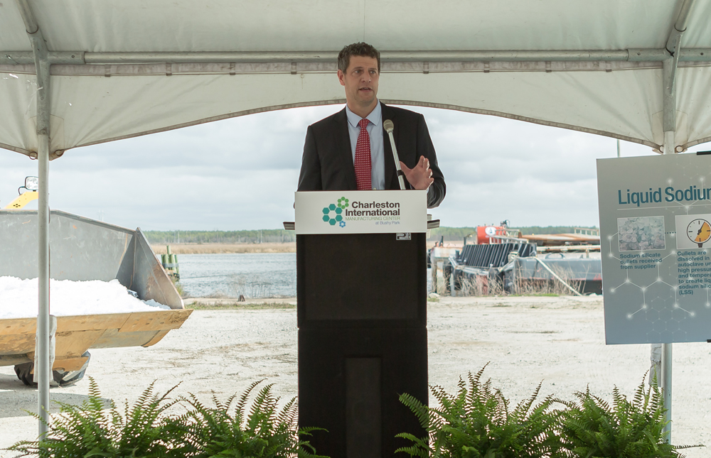 Marc Fetten, president and CEO of Charleston International Manufacturing Center, said the new liquid sodium silicate production facility in Goose Creek could attract more manufacturers to the Lowcountry. (Photo/Paul Cheney Photography)
