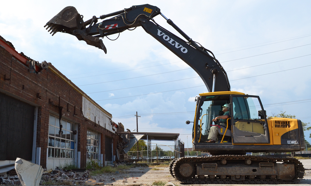 North Charleston Mayor Keith Summey began the demolition of the Shipwatch Square shopping center near Rivers Avenue on Sept. 13, 2011. (Photo/File)
