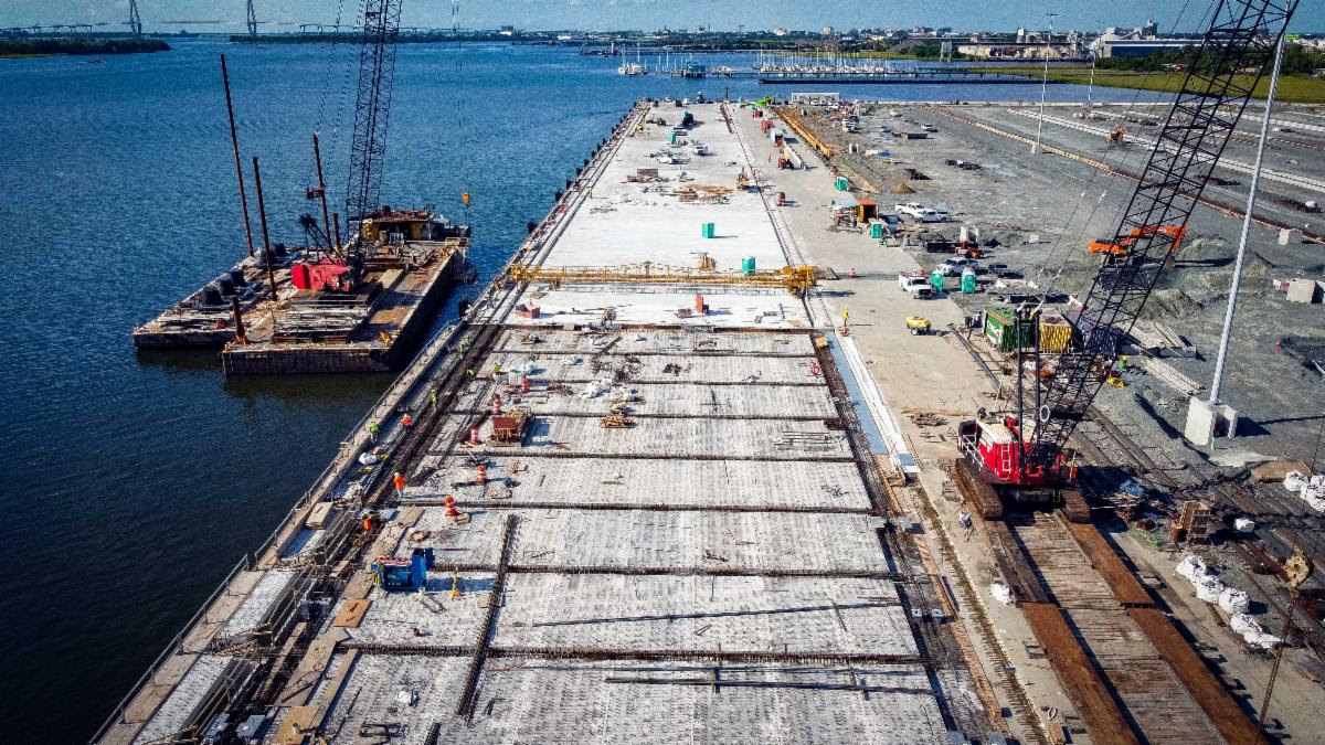 The Hugh K. Leatherman Sr. Terminal is expected to open in early 2021. (Photo/S.C. Ports Authority)