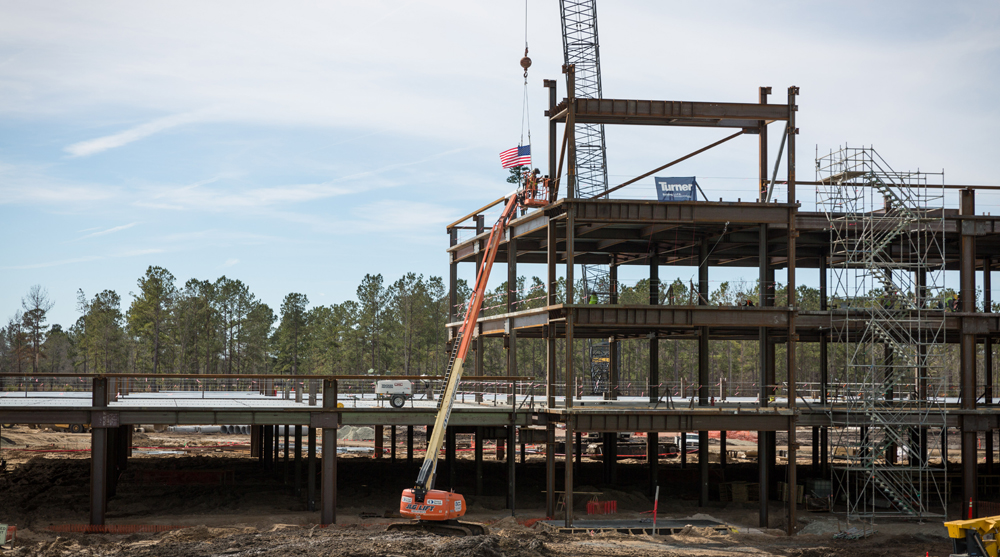 Roper St. Francis celebrated the topping-out of its Berkeley County hospital in early February. (Photo/Roper St. Francis)