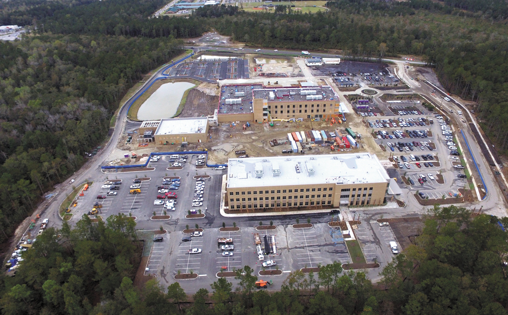 The office building is part of the new Roper St. Francis Berkeley County Hospital campus, which will include the county's first hospital in 40 years. A hospital in Moncks Corner closed in the 1970s. (Photo/Roper St. Francis Healthcare)