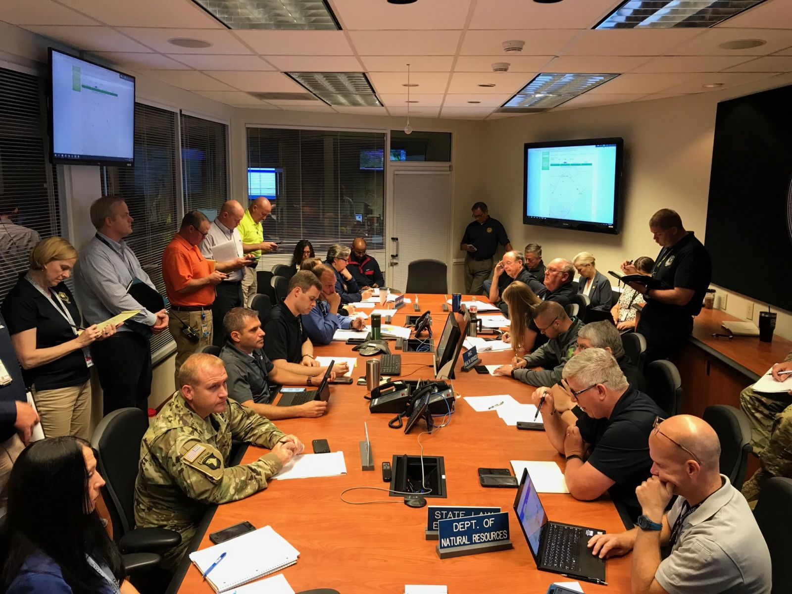 S.C. emergency officials monitor Dorian as the category 3 hurricane approaches South Carolina. (Photo/S.C. Emergency Management Division)
