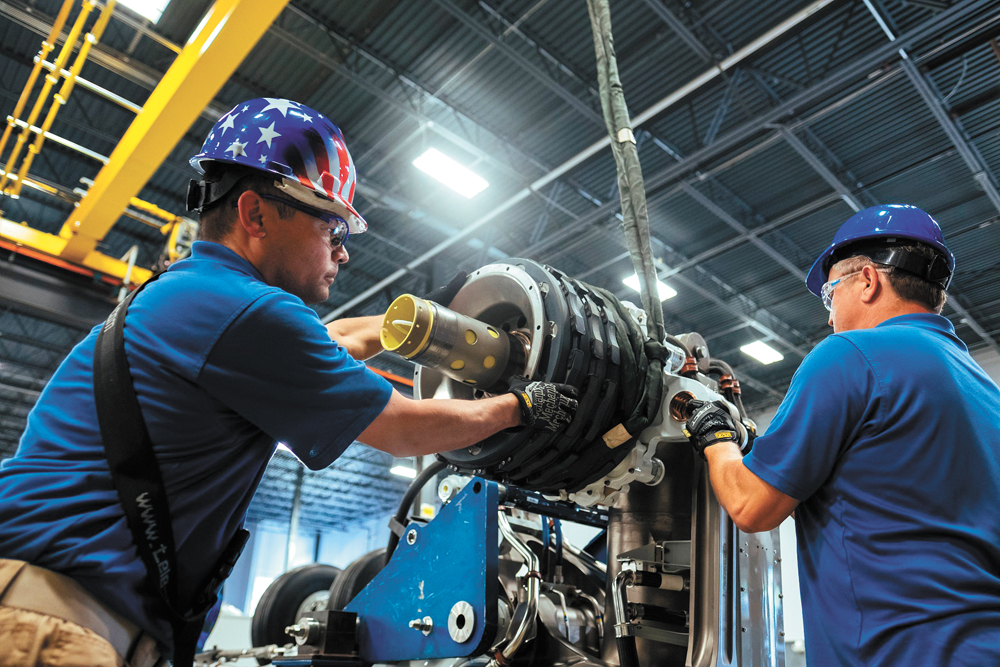 S.C. aerospace suppliers have expanded to serve large manufacturers. In 2016, Safran Electrical and Power Charleston moved into a 25,000-square-foot facility in Ladson to accommodate more 787 work from Boeing, including final assembly of the Dreamliner's main landing gear. (Photo/Cyril Abad/CAPA Pictures/Safran)