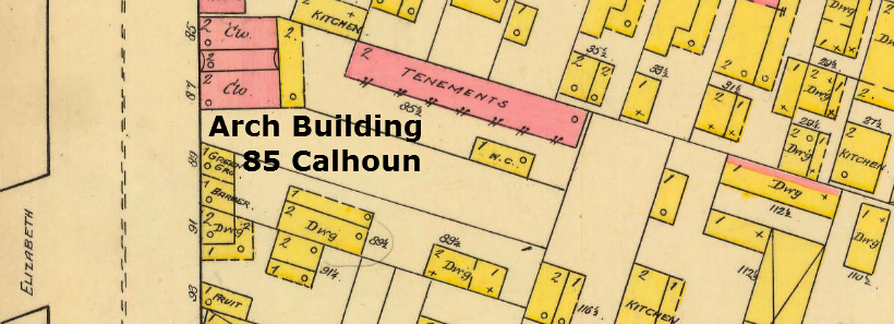Sanborn Fire Insurance Co. maps from 1888