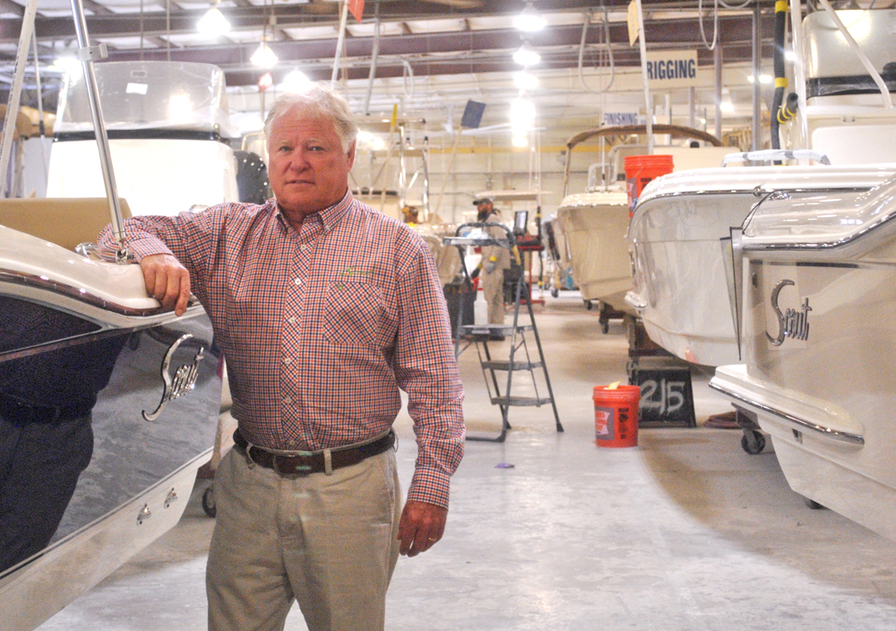 Scout Boats CEO Steve Potts plans to build a 120,000-square-foot expansion near the company's existing facilities in Summerville to launch a new line of watercraft. (Photo/Ryan Wilcox)