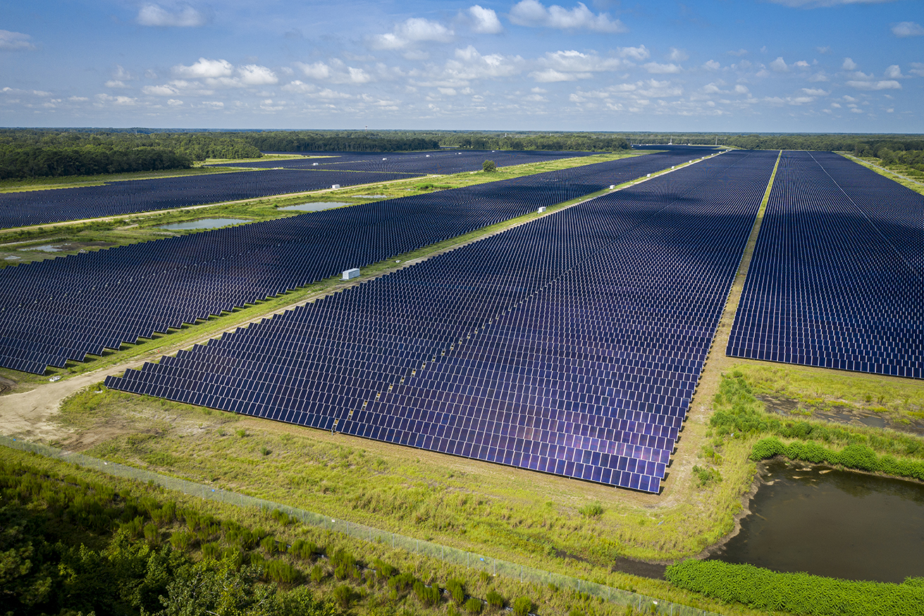 The Seabrook Solar Farm in Beaufort is a 72-megawatt solar production facility owned by Dominion Energy. (Photo/Provided)