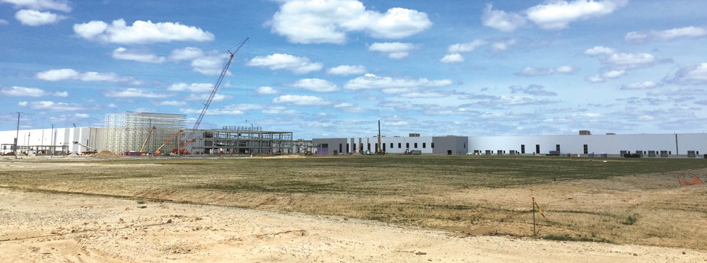 Volvo Cars made progress on its Berkeley County campus as of spring. (Photo/Liz Segrist)