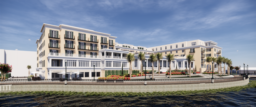 Lowe has received approval from the Charleston Board of Architectural Review for its 225-room waterfront hotel on Concord Street. (Rendering/Provided)