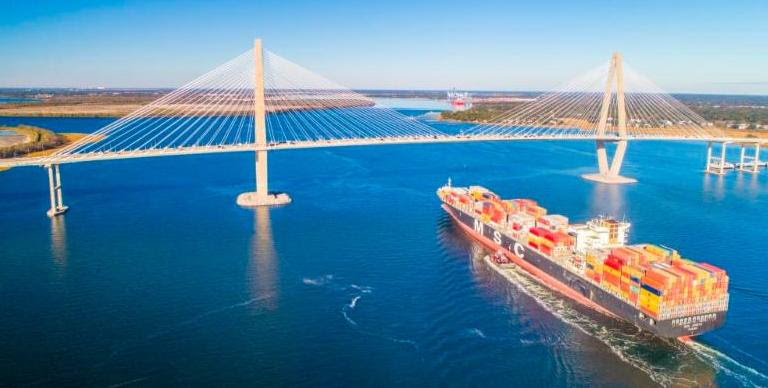 Port officials expect to see larger ships calling on Charleston this year. (Photo/Provided)