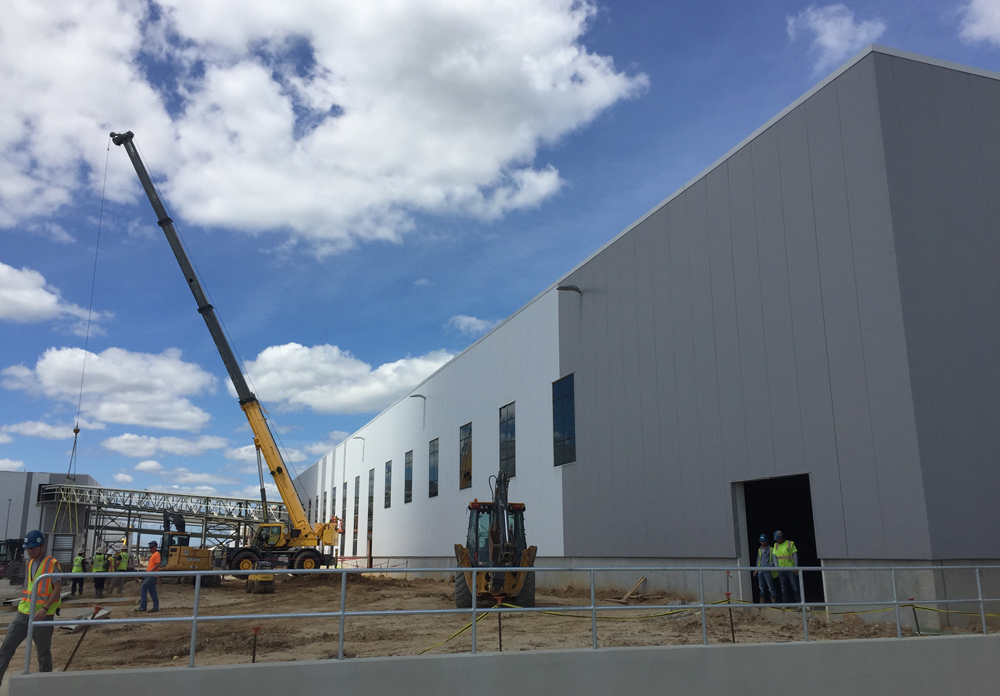 The final assembly facility is the largest building on the site. (Photo/Liz Segrist)