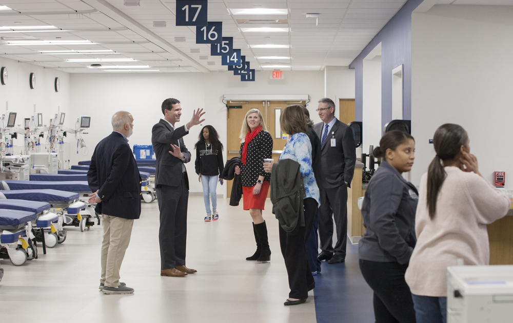 Hospital officials give a tour of the new facility. (Photo/Provided)