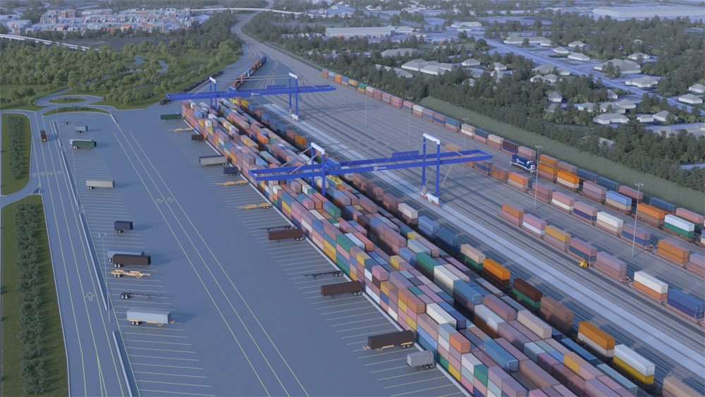 The Navy Base Intermodal Facility received regulatory approval from the Army Corps of Engineers. (Rendering/Provided)